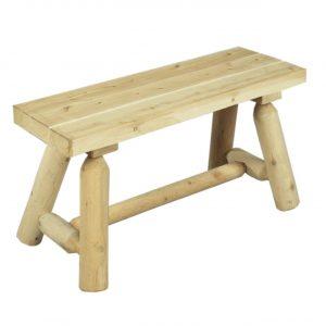 kort rak bänk vit ceder möbler