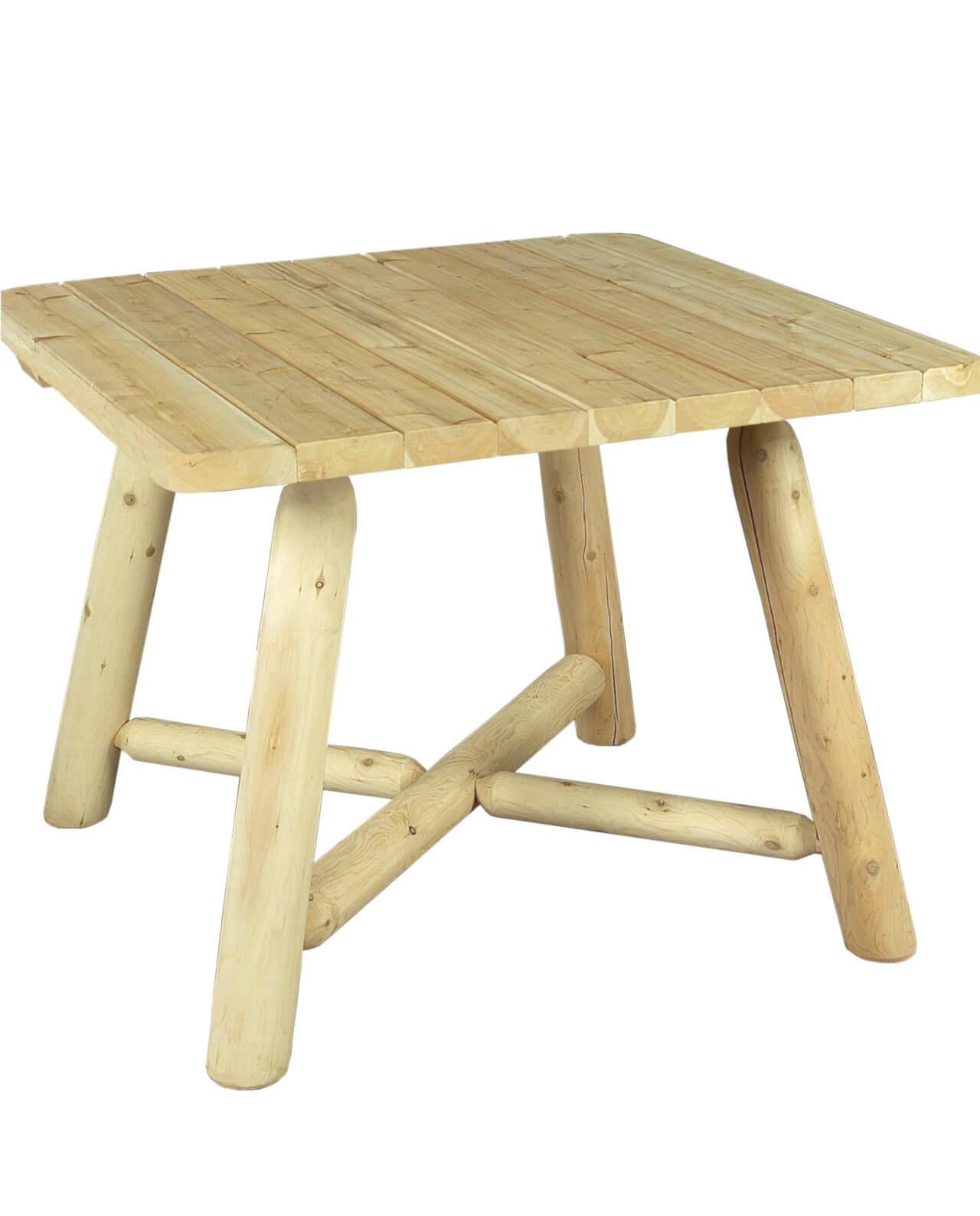 utomhus matbord vitceder